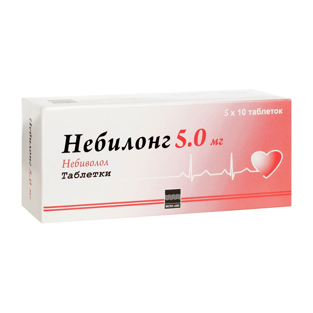 Купить Небилонг таблетки 5 мг 50 шт., Micro Labs