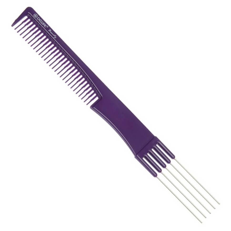 Купить Расческа Dewal Beauty для начеса с металлическими зубцами, синяя, 19 см