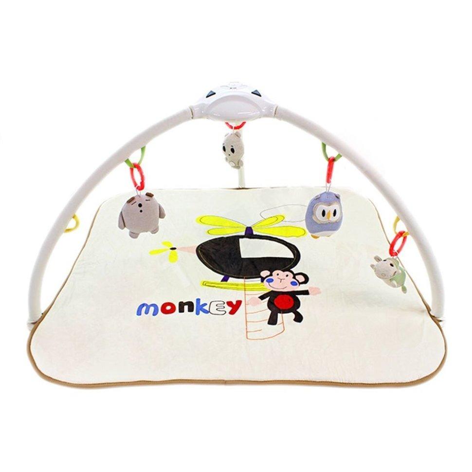 Купить Развивающий коврик Konig Kids Веселая обезьянка/Слон, с проектором, Развивающие коврики для детей