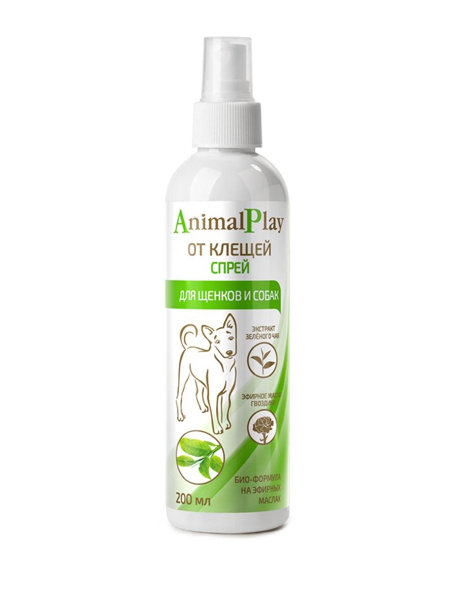 Спрей для собак против клещей, блох, вшей, власоедов Animal Play, 200 мл