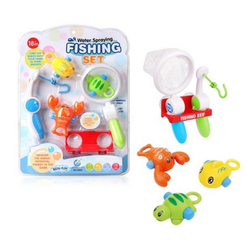 Игрушка для ванной. Рыбалка: удочка, сачок, держатель