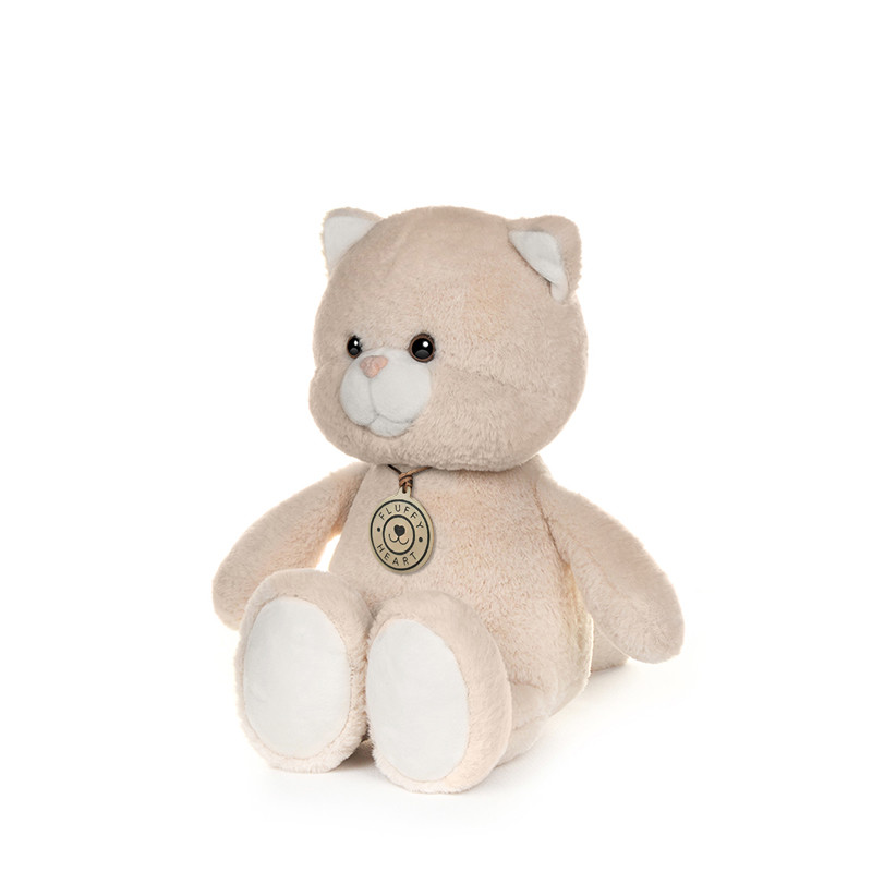 Купить Мягкая игрушка Fluffy Heart Котенок Fluffy Heart, 25 см,