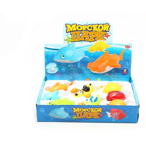 Купить Набор игрушек Морской Парк Joy Toy, 38*30*7см, 8шт, арт.9505, PLAYSMART, Игрушки для купания