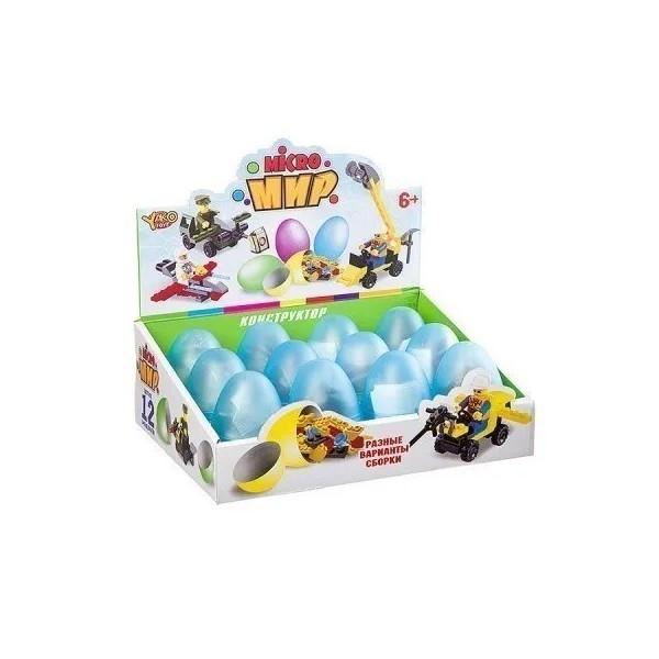 Купить Конструктор 3в1 в яйце серия Micro Мир D/B 26х9х19 Армия Пожарная Полиция-4 вида арт.M6, Yako Toys, Конструкторы пластмассовые