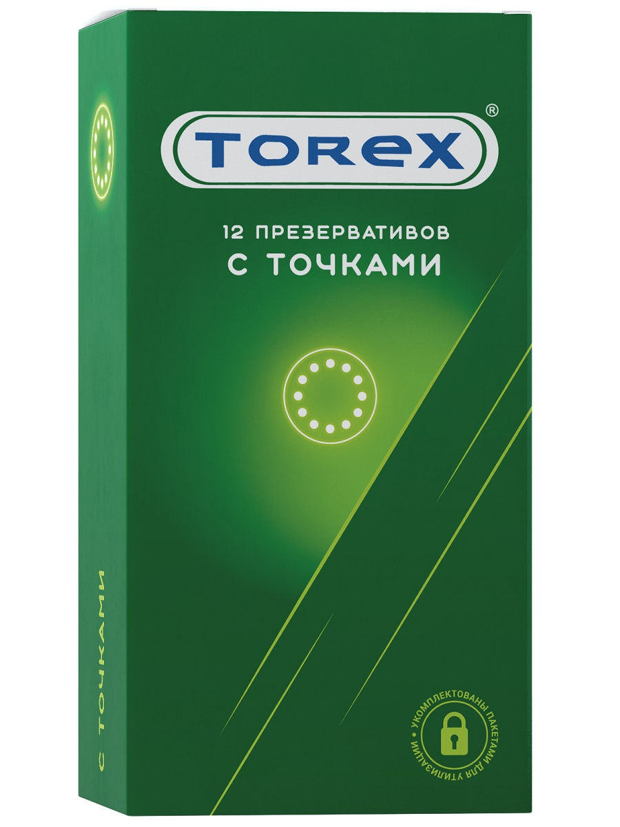 Купить Презервативы с точками TOREX, 12 шт