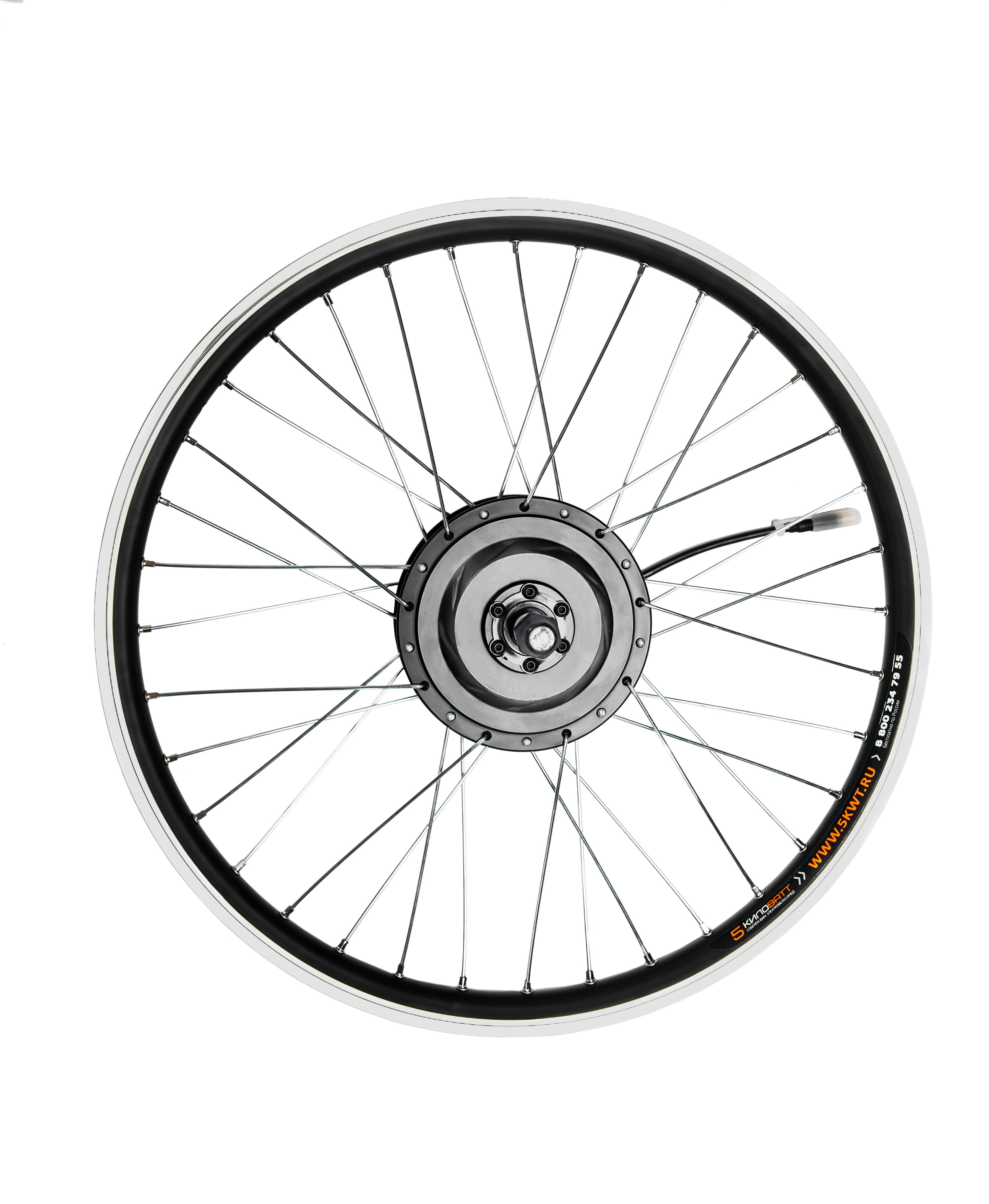 Мотор-колесо редукторное заднее 500Вт 36-48В, спицы черные