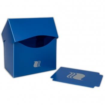 Пластиковая коробочка Blackfire горизонтальная синяя, 80+ карт
