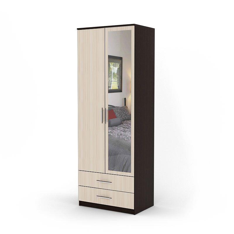 Шкаф двухдверный Шарм-Дизайн Дуэт 70х60 Венге и Вяз