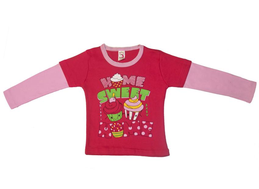 Джемпер для девочки Kirpi Baby цв.малиновый, розовый