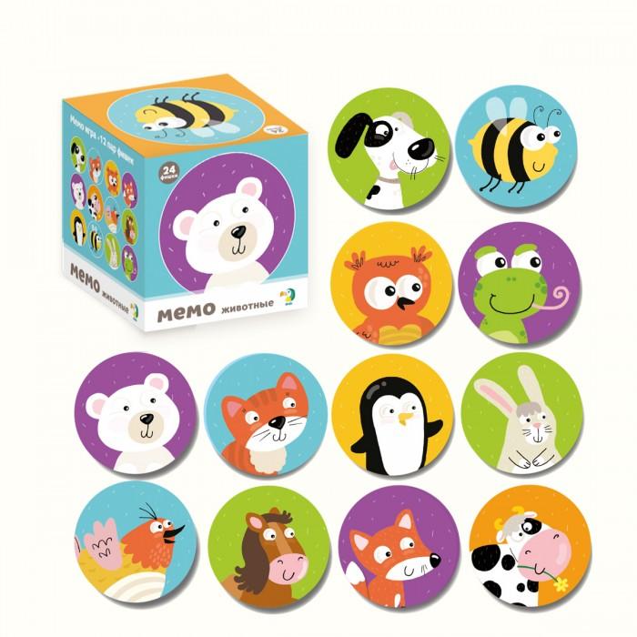 Купить Настольная игра DODO 300145 Мемори животные,