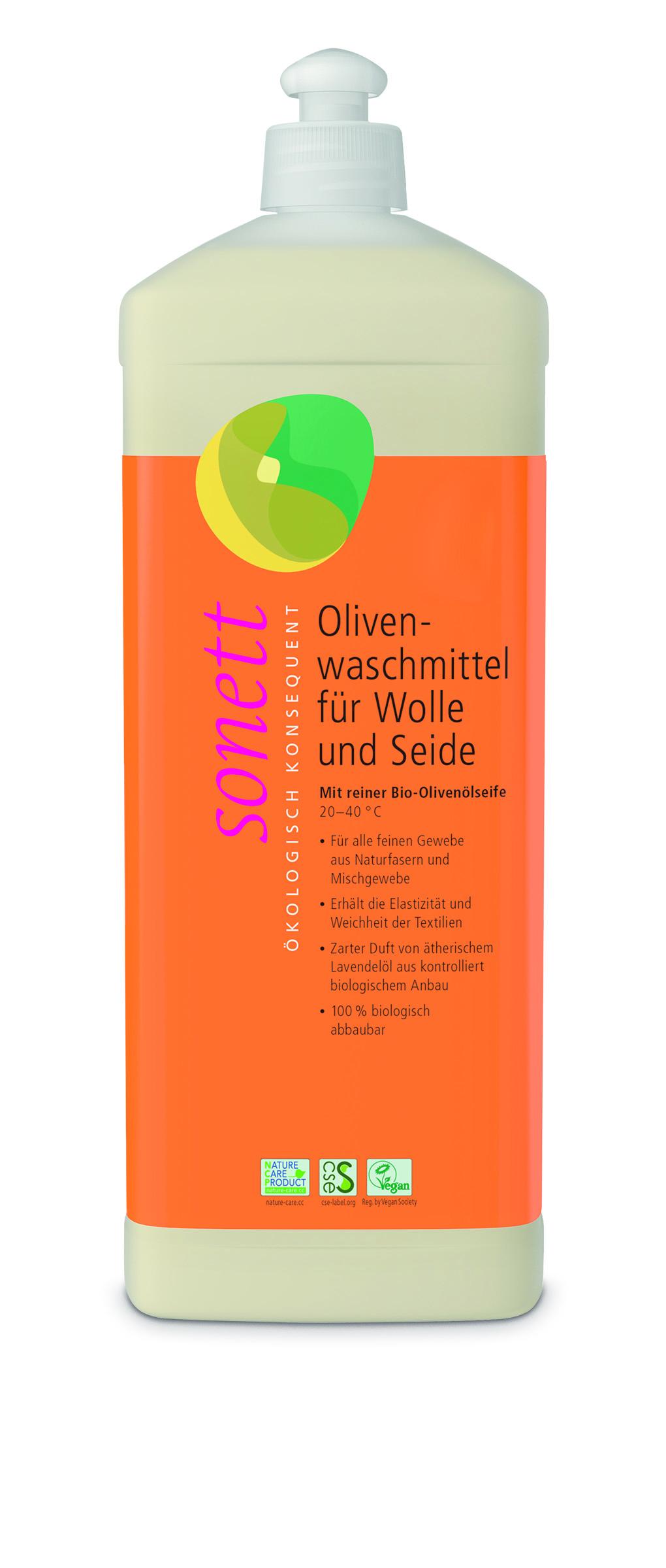 Жидкое средство для стирки изделий из шерсти и шелка Sonett концентрат органический 1 л фото