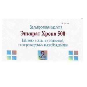 Энкорат Хроно таб.с контролир.высвоб. п/о плен. 500 мг 30 шт.