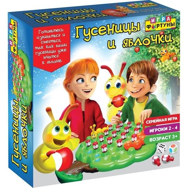 Купить Настольная семейная игра Фортуна Гусеницы и яблочки, Семейные настольные игры