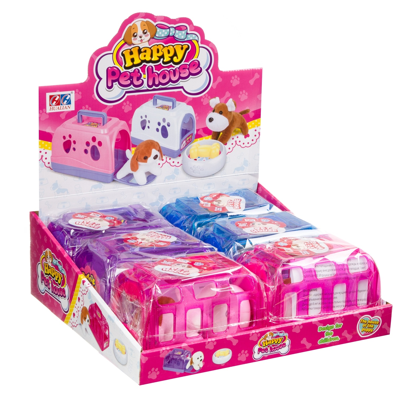 Купить Мягкая игрушка Shantou Gepaiщенок будке-переноске с миской и косточкой 813,