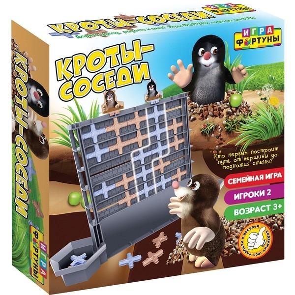 Купить Настольная семейная игра Фортуна Кроты-соседи, Семейные настольные игры