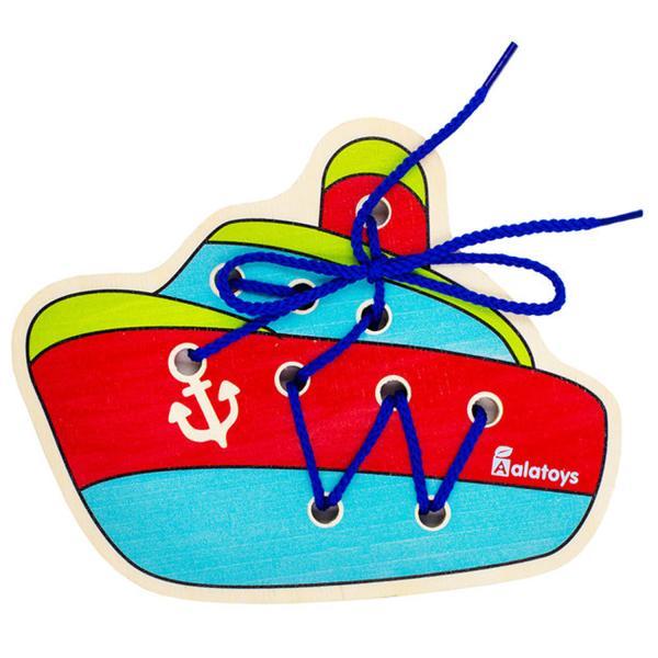 Купить Шнуровка ALATOYS ШН39 Кораблик, Алатойс, Шнуровки для детей