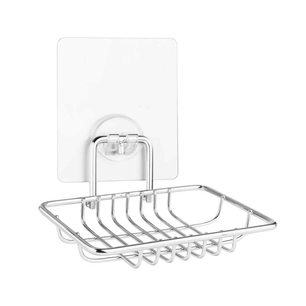 Мыльница решетка для ванной настенная на силиконовом