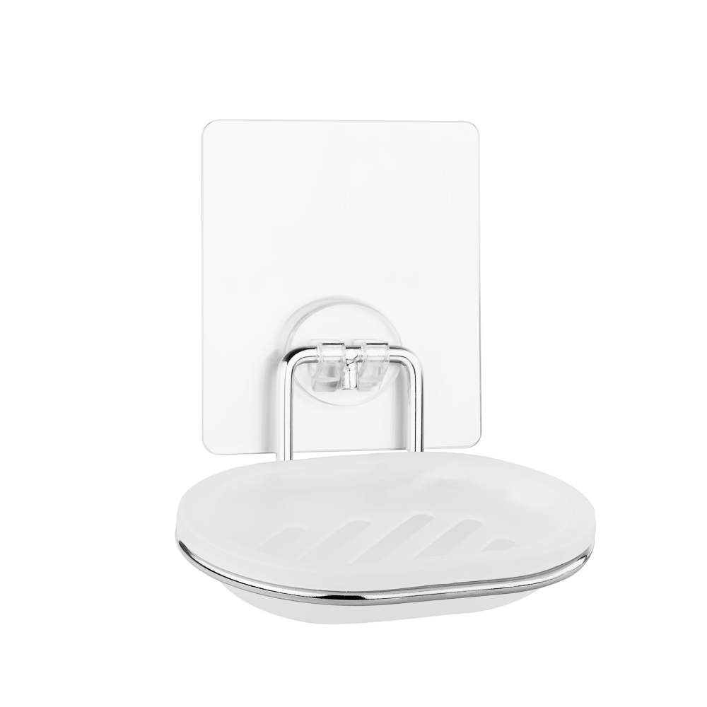 Мыльница для ванной настенная на силиконовом креплении