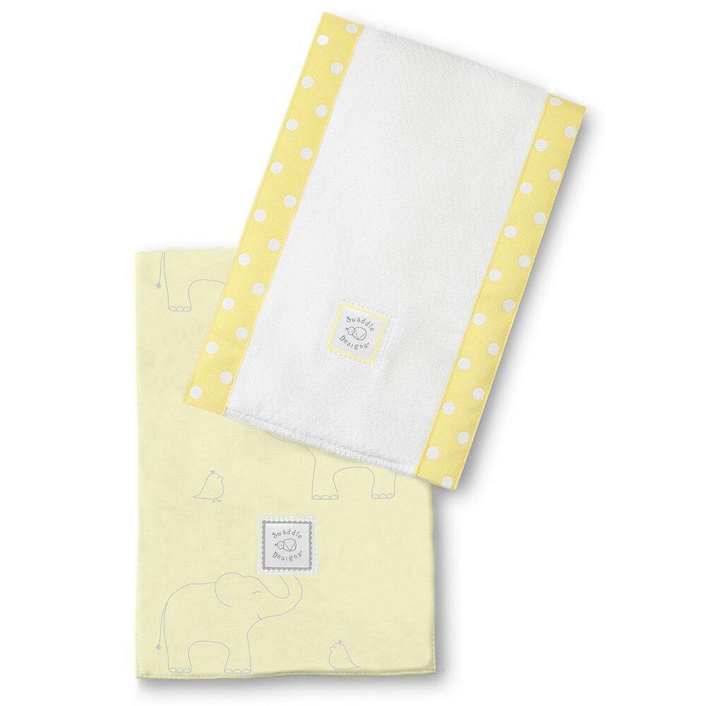 Полотенца SwaddleDesigns Baby Burpie Set Yellow Sterling