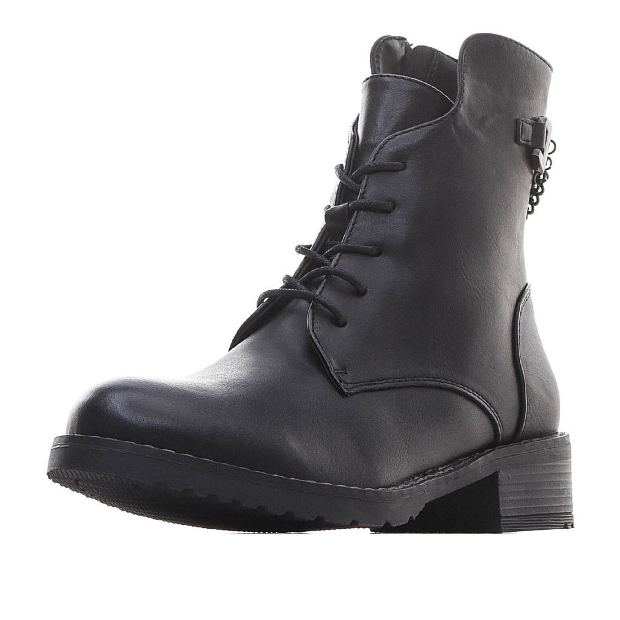 Купить 91-92GO-009SR, Ботинки для девочек ZENDEN, цв. черный, р-р 34,