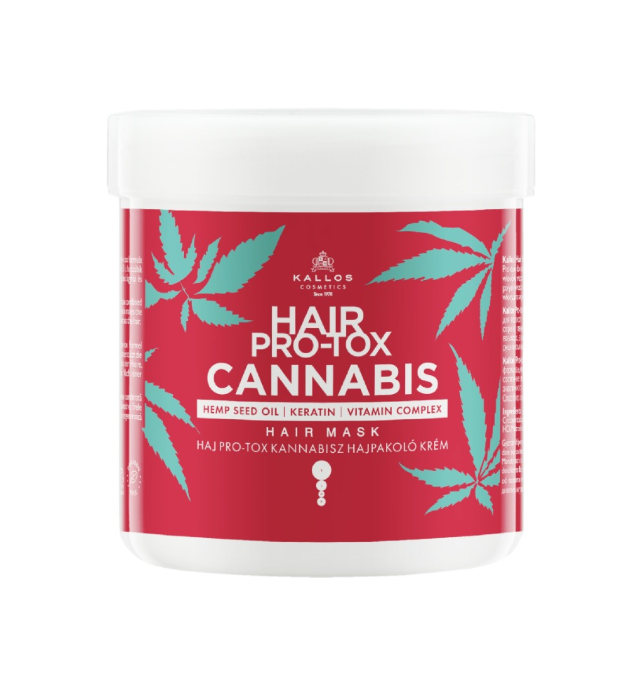 Купить Маска для волос KALLOS Cosmetics HAIR PRO-TOX CANNABIS, 500 мл