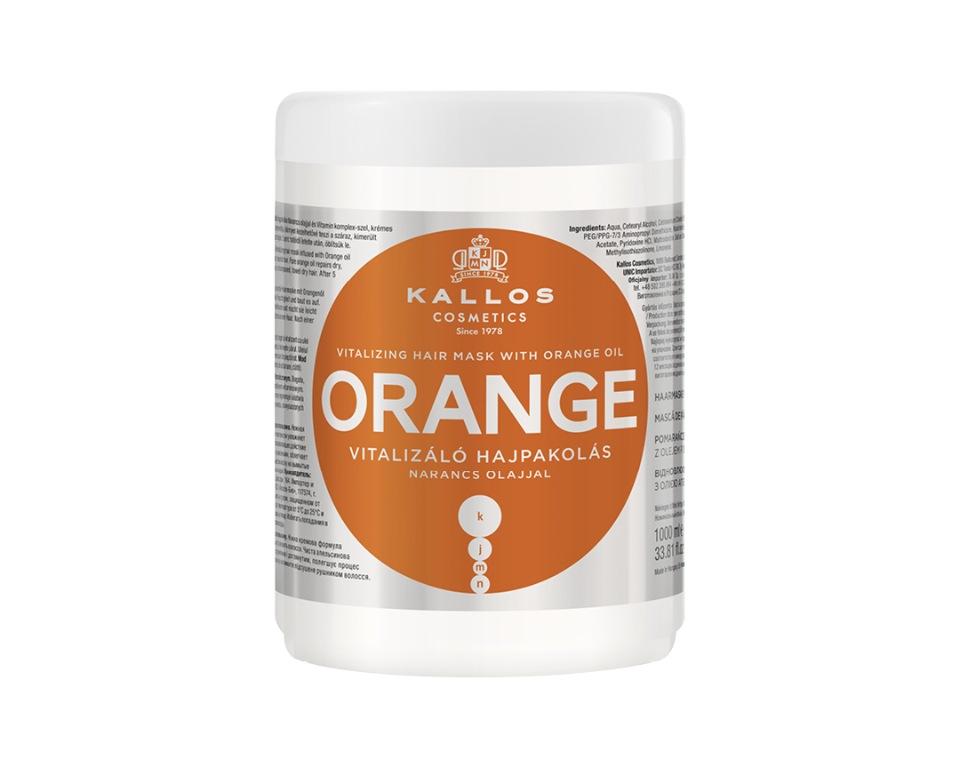 Купить Маска восстанавливающая для волос KALLOS KJMN с маслом апельсина 1000 мл, Kallos Cosmetics