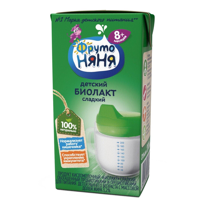 Купить Биолакт Фрутоняня сладкий с восьми месяцев 3.2% 200 г, ФрутоНяня,