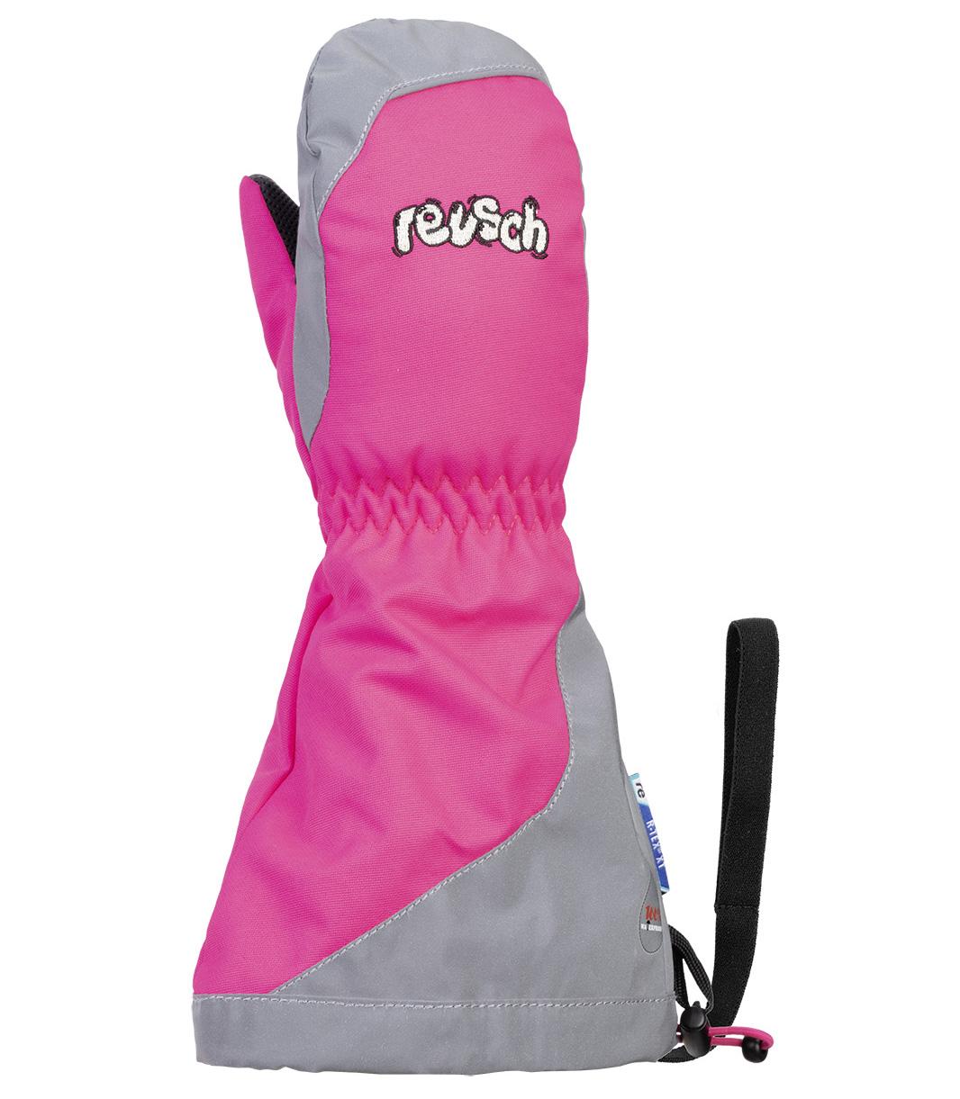 Варежки Reusch 2020-21 Walter R-Tex® Xt Mitten Pink Glo/Reflective (Inch (Дюйм):Iv)