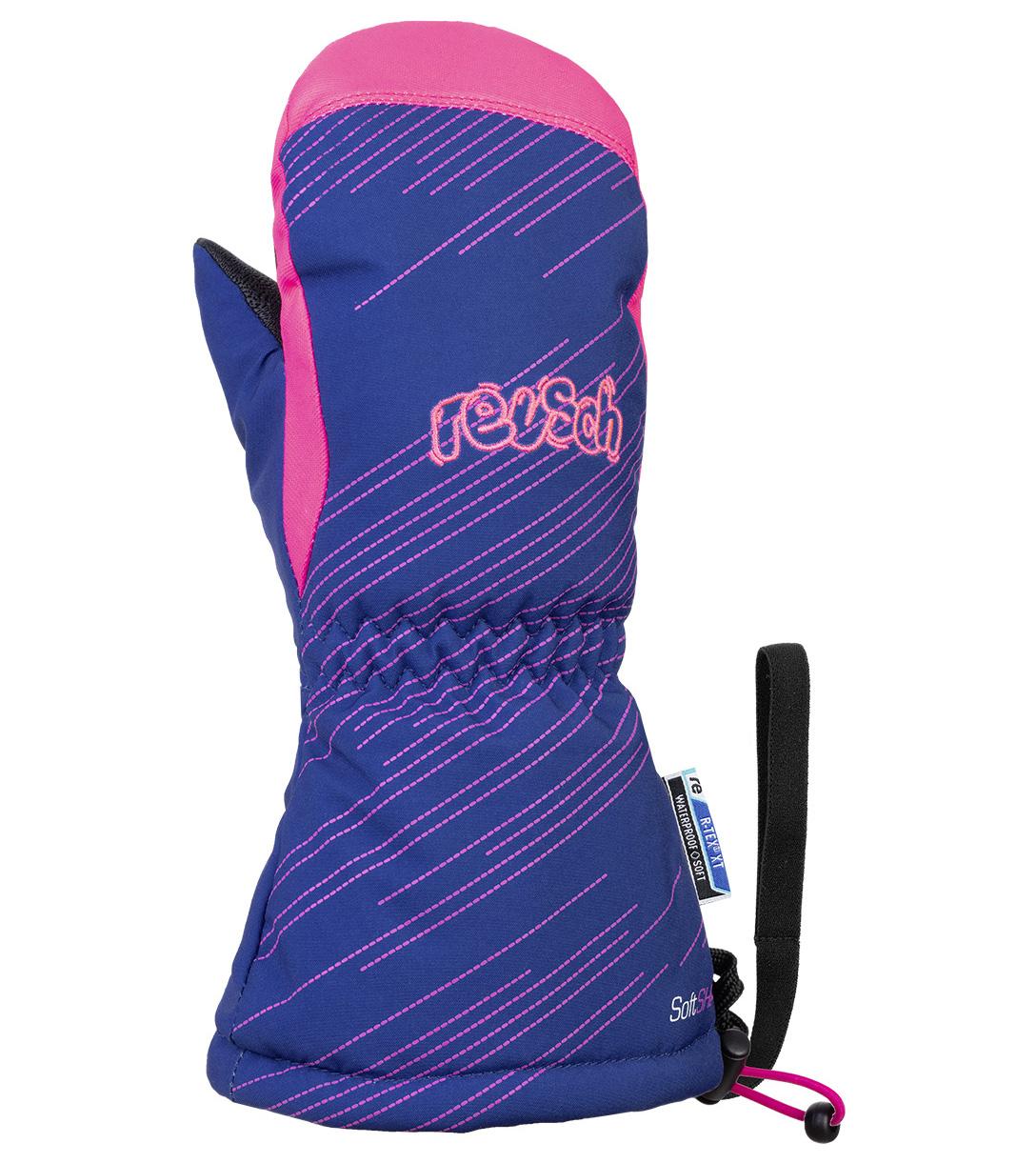 Варежки Reusch 2020-21 Maxi R-Tex® Xt Mitten Surf The Web/Knockout Pink (Inch (Дюйм):Iv)
