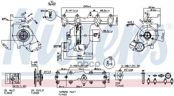 Турбокомпрессор двигателя Vw Transporter T5 03 Nissens