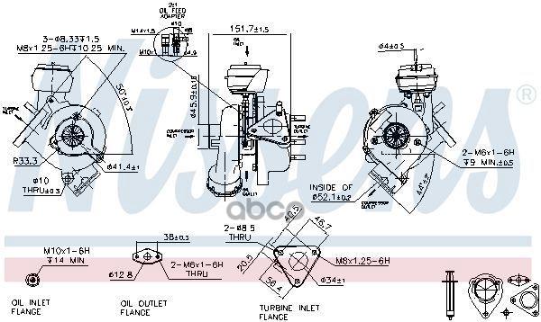 Турбокомпрессор двигателя Vw Passat 00 Nissens 93043