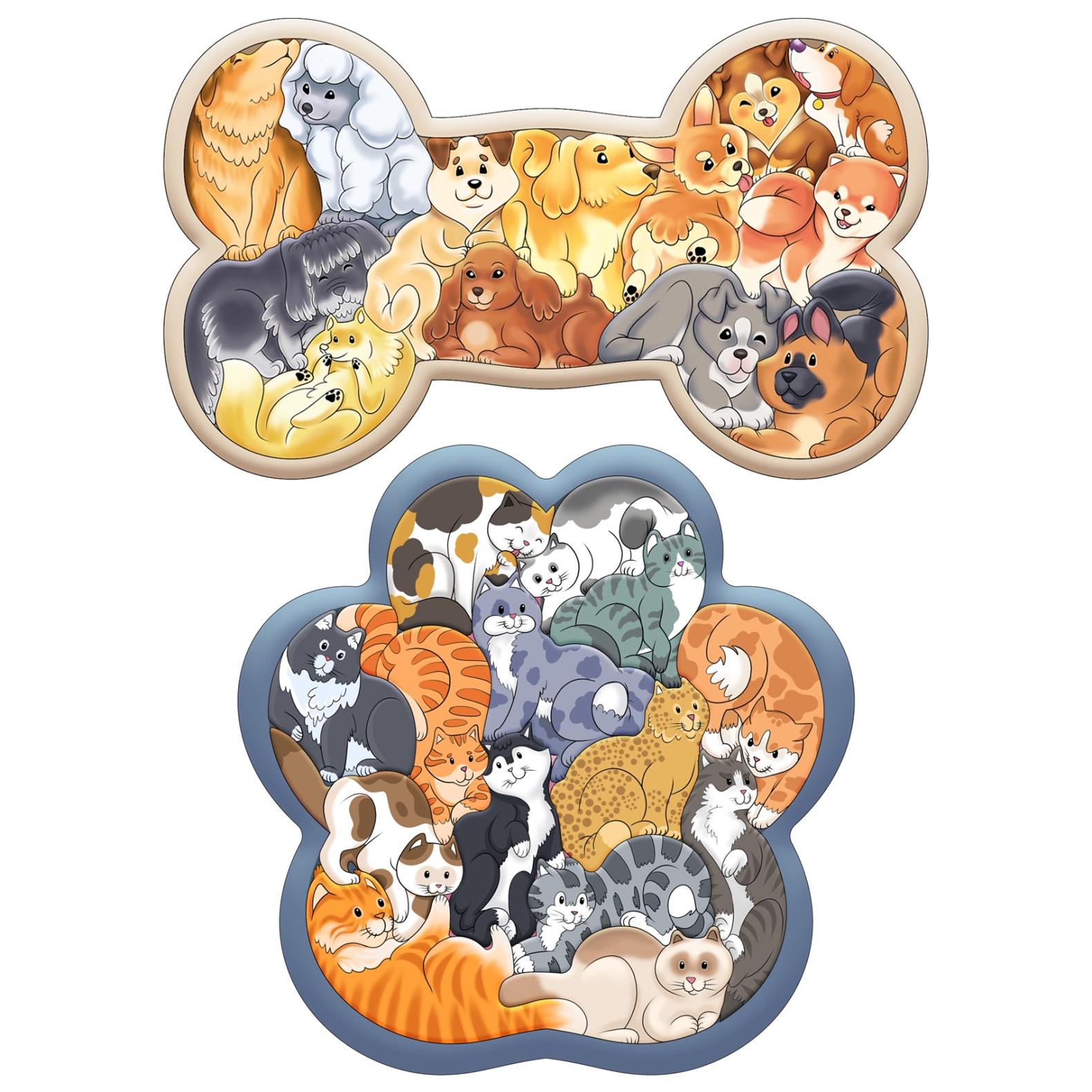 Купить Набор Нескучные Игры Зоопазл Кошки + Зоопазл Собаки,