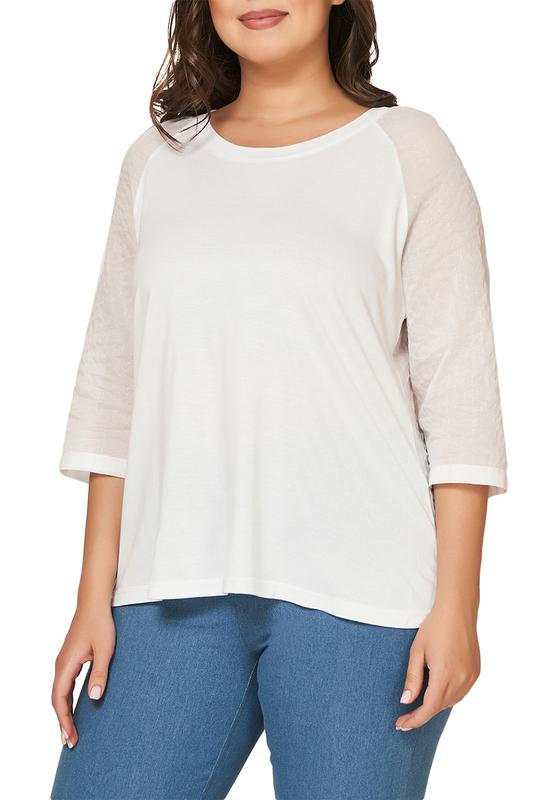 Блуза женская OLSI 1910030 белая 66 RU, 1910030