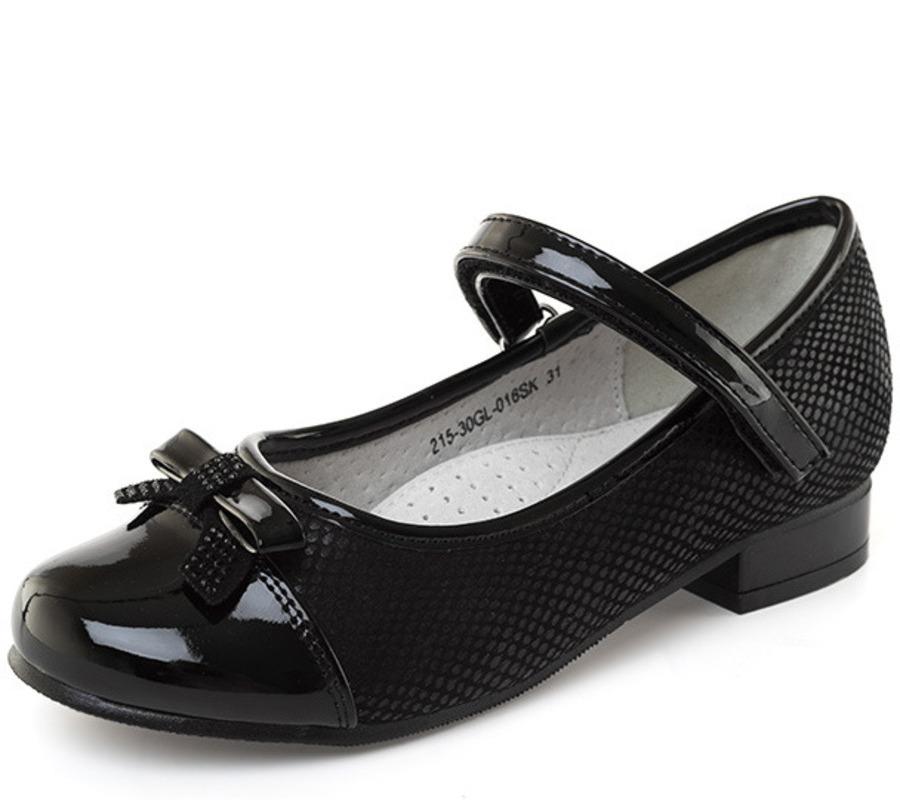 Купить 215-30GL-016SK, Туфли для девочек ZENDEN, цв. черный, р-р 32,