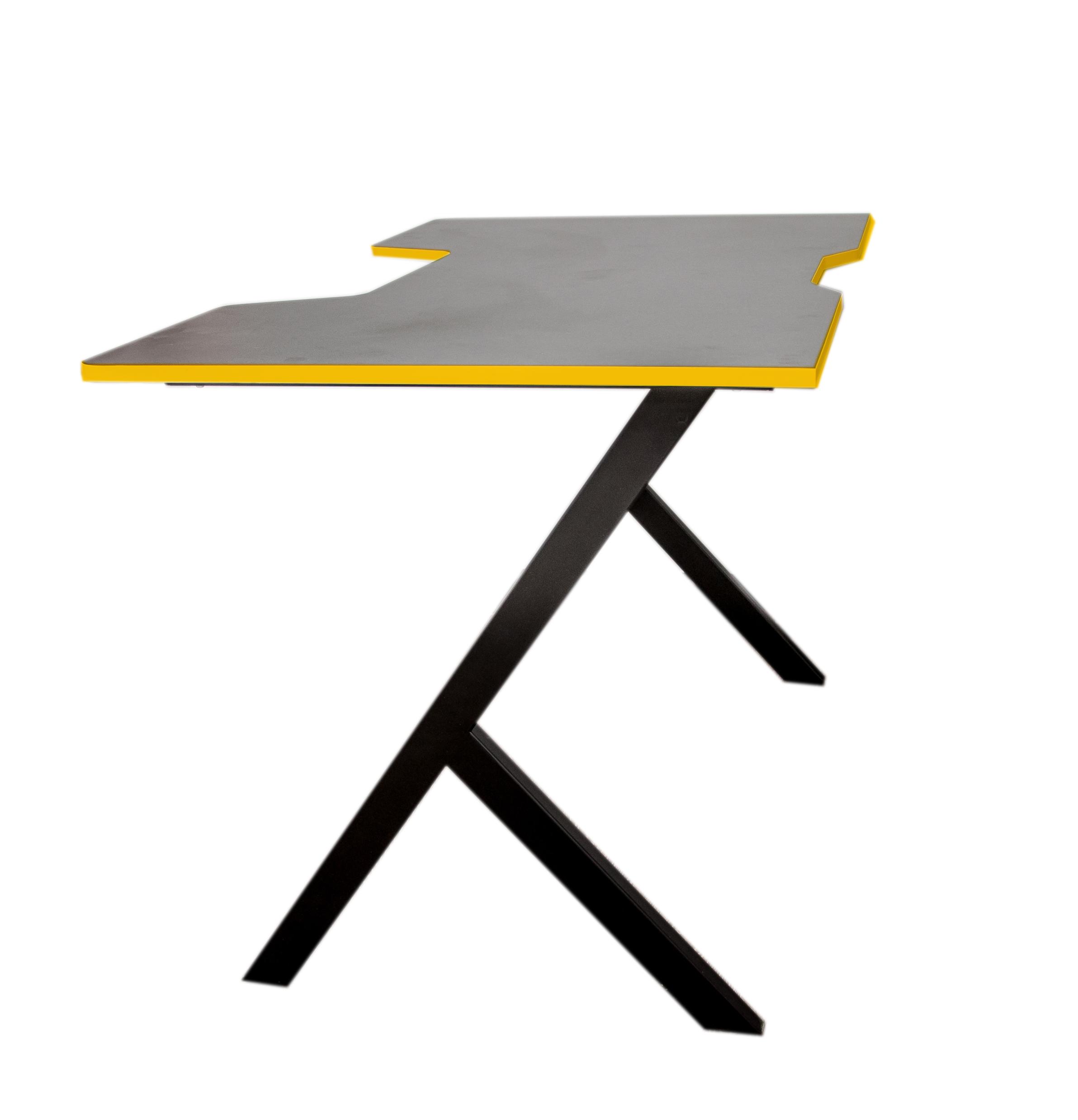 Игровой стол компьютерный JetFire чёрно желтый