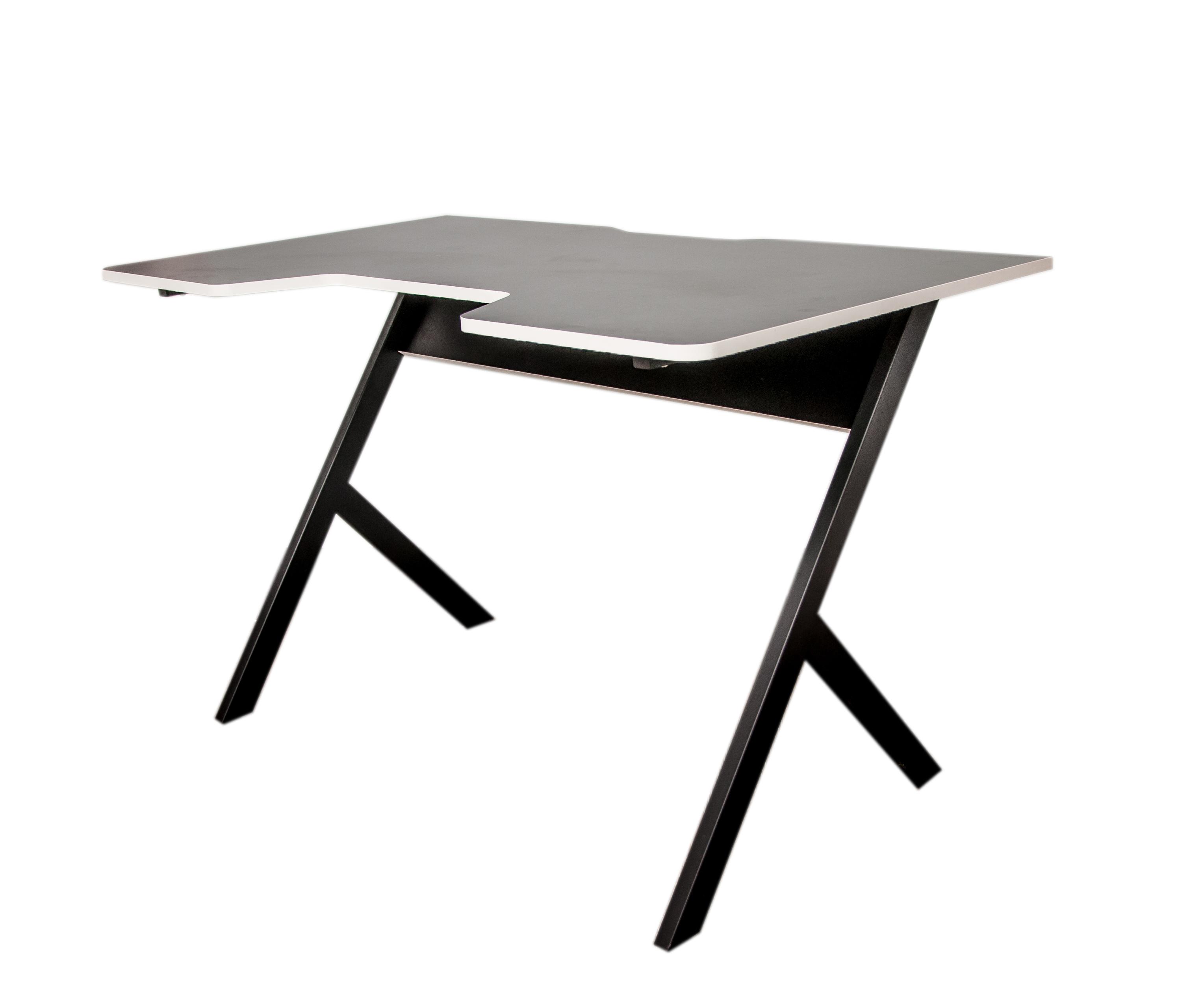 Компьютерный игровой стол JetFire чёрно белый