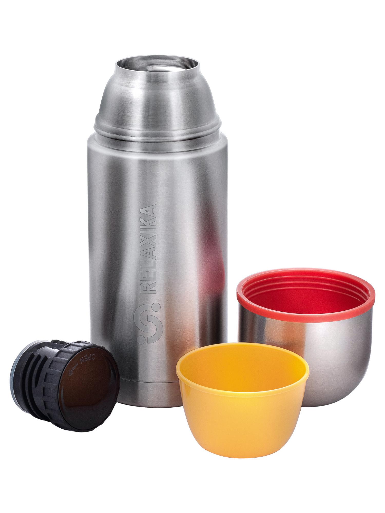 Фото - Термос Relaxika 102 (0,75 литра), 2 чашки, стальной