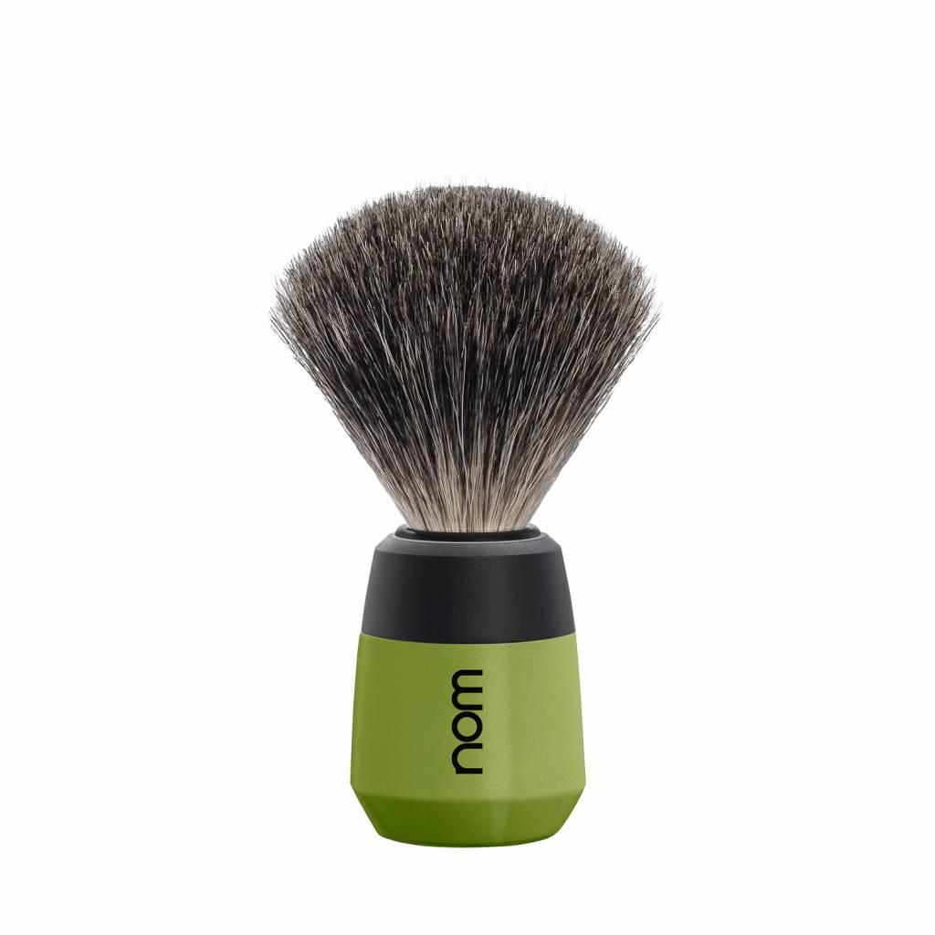 Купить Помазок натуральный барсучий ворс Muehle Nom Max, зеленый пластик, 326478
