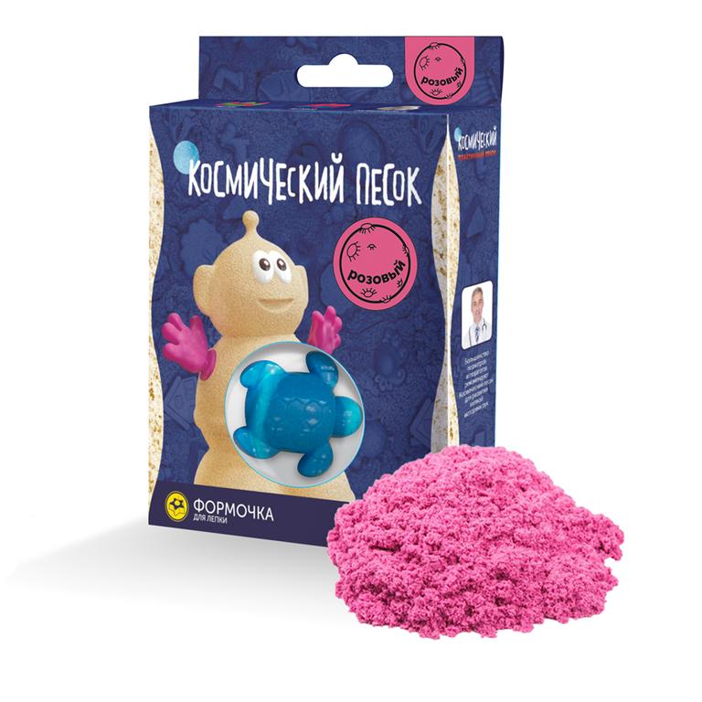 Купить Космический пластичный песок Розовый 150 г, Космический Песок,