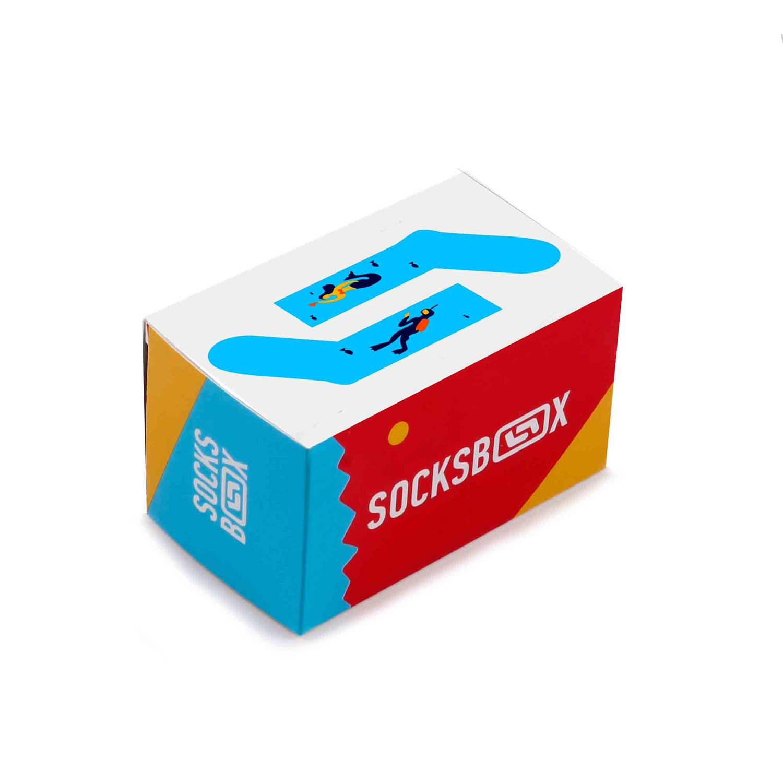Носки унисекс Socks Box СоксБокс Кусто разноцветные 36-39