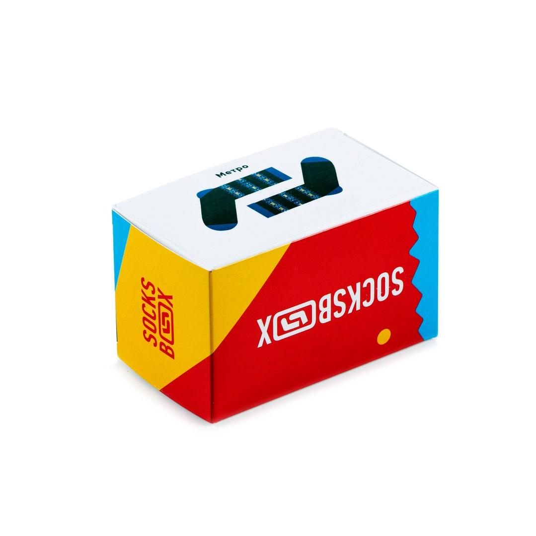 Носки унисекс Socks Box Метро разноцветные 41-43