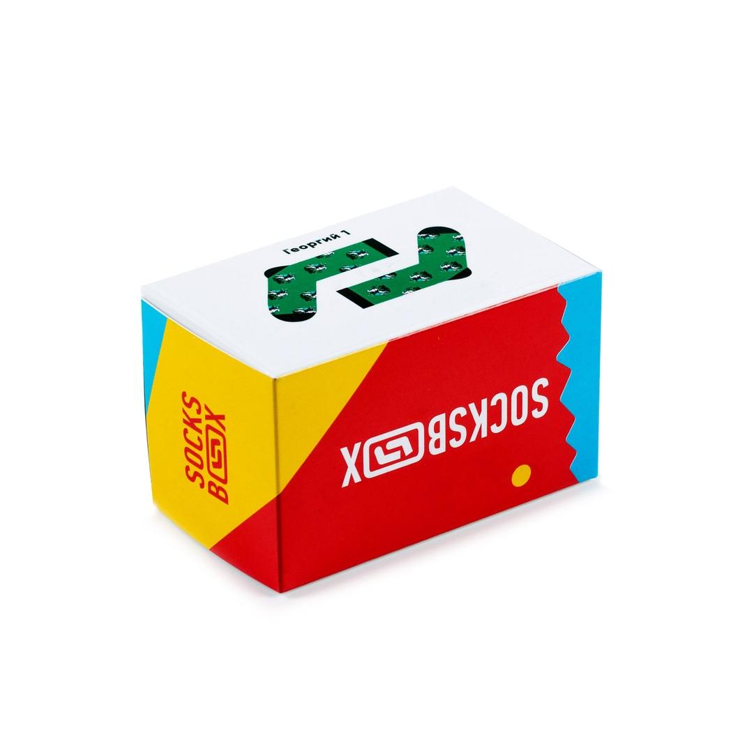 Носки унисекс Socks Box Георг Зеленые разноцветные 36-39