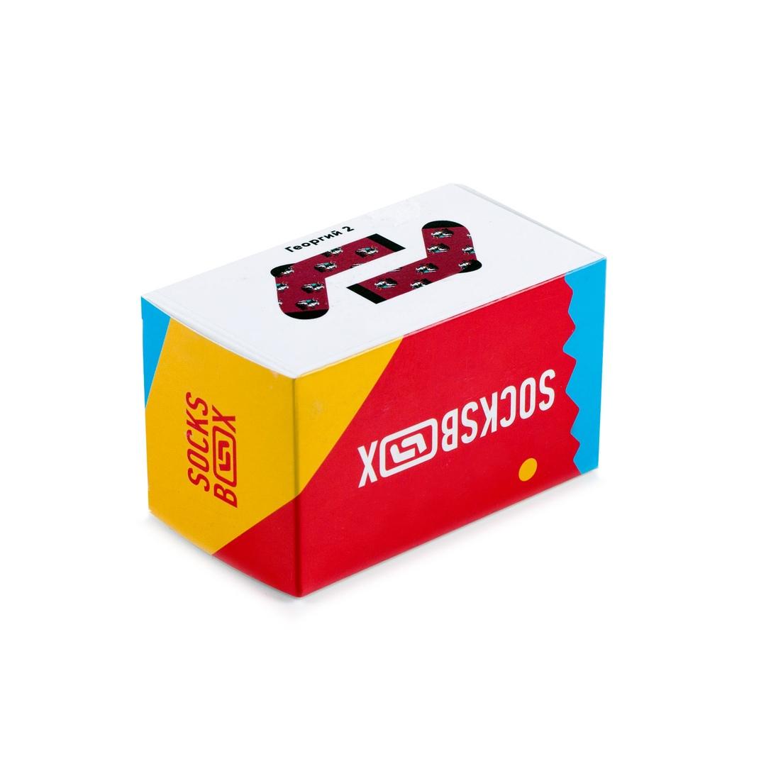 Носки унисекс Socks Box Георг Красные разноцветные 36-39