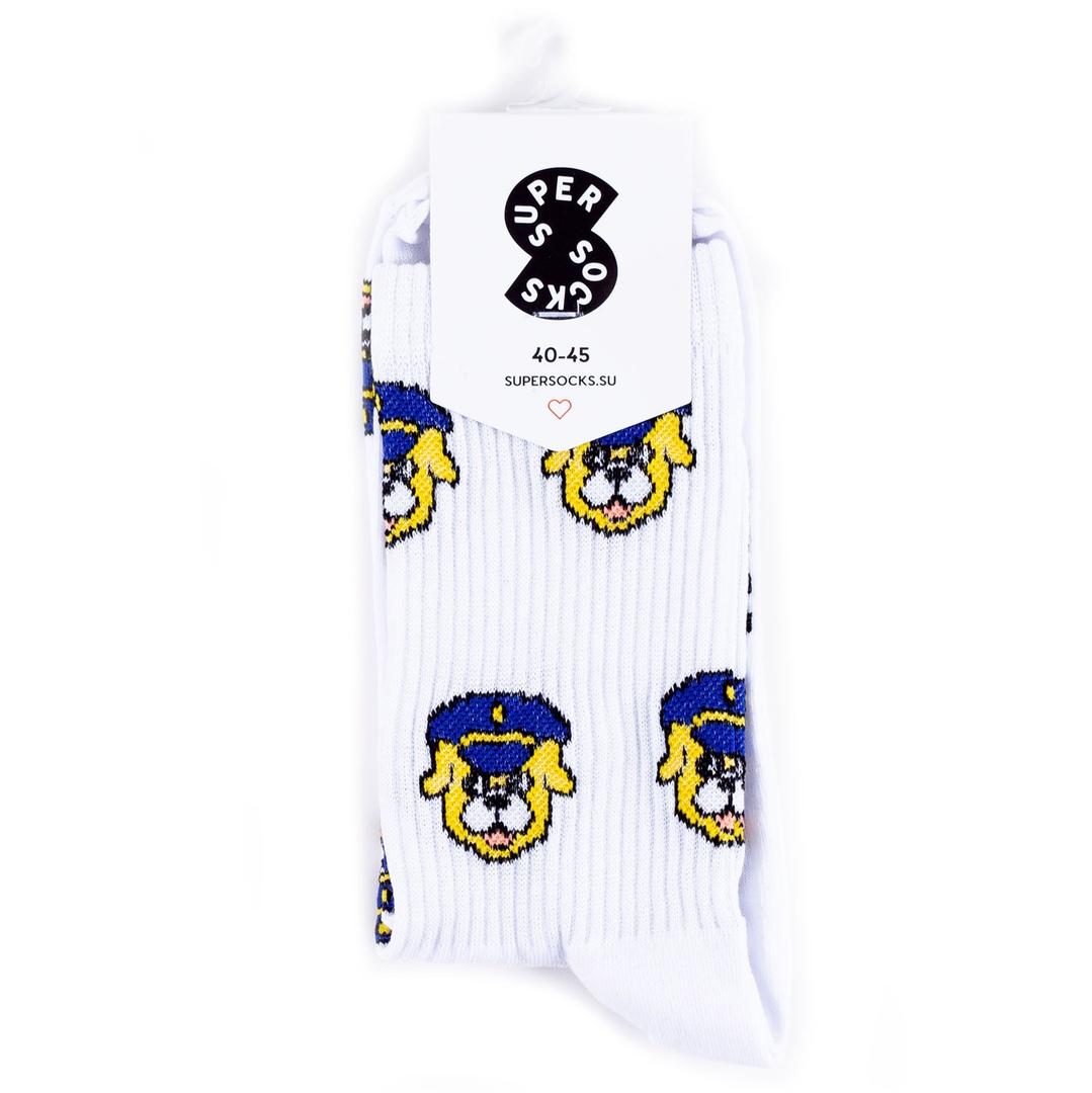 Носки унисекс Super Socks Офицер Песичкин разноцветные 35-40