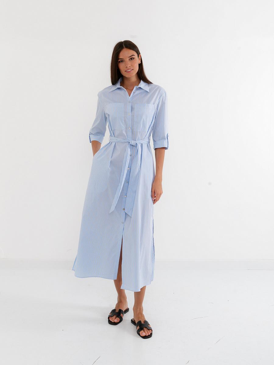 Платье женское Glenfield D12ABA91S-08T голубое 50 RU