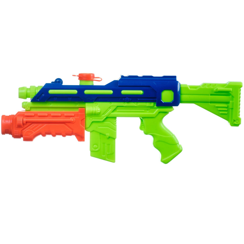 Водный пистолет Bondibon Наше Лето, арт. 8834 зелёно-синий