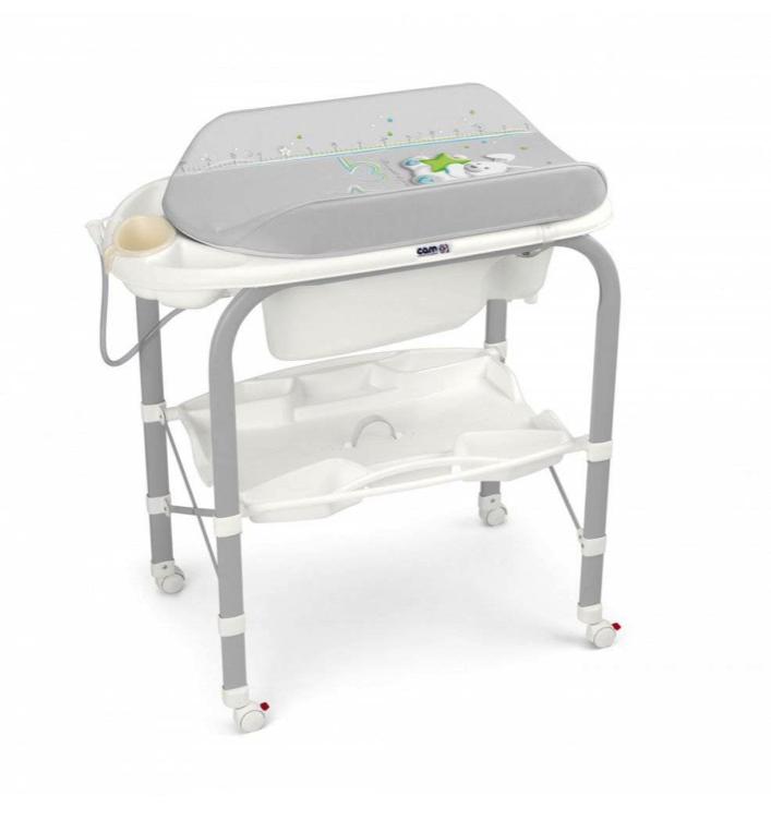 Пеленальный стол Cam Cambio цвет: серый, с зайчиком и звездочкой