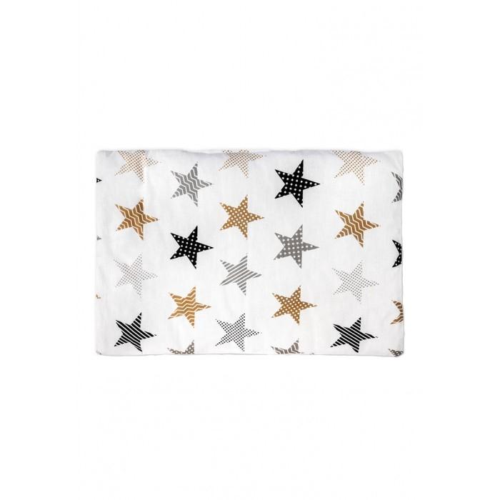 Купить Подушка в кроватку Бамбук, цвет: белоснежный с рисунком, 60х40 см Сонный гномик,