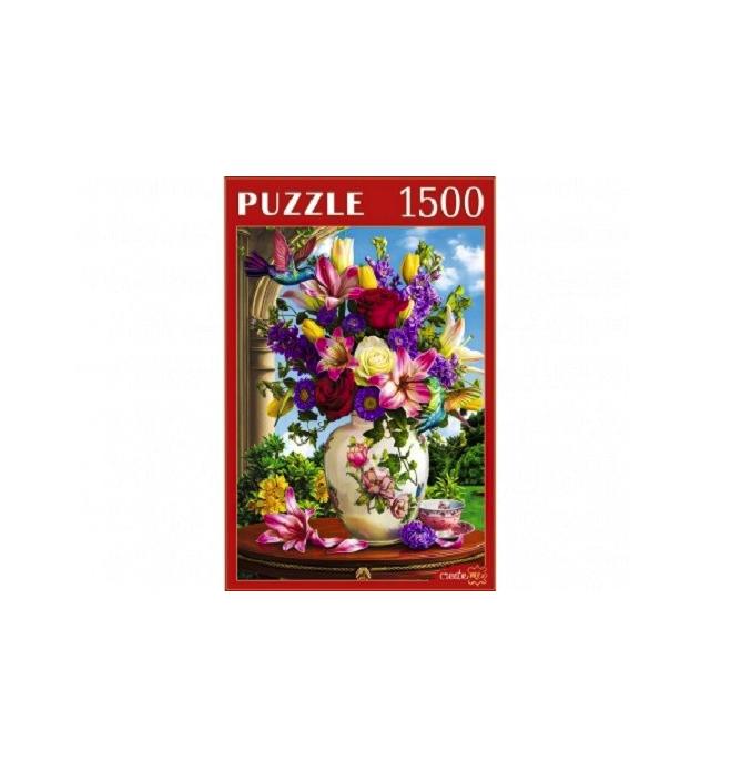 Купить Пазлы Рыжий кот Цветы и колибри, 1500 элементов,
