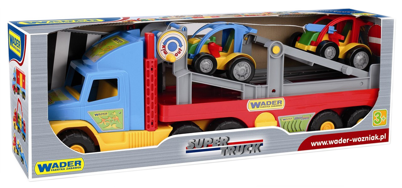 Машина с легковой машинкой Super Truck Wader